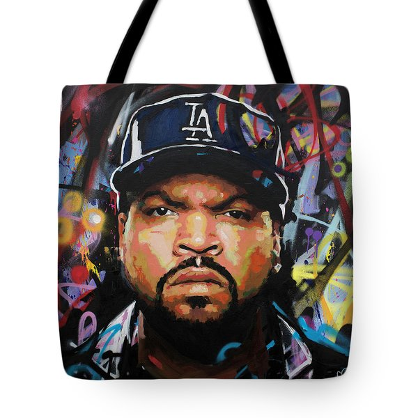 Tote Bag featuring the painting Ice Cube by Richard Day