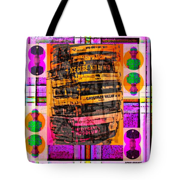 Ice Cube Stack Tote Bag by Tony Adamo