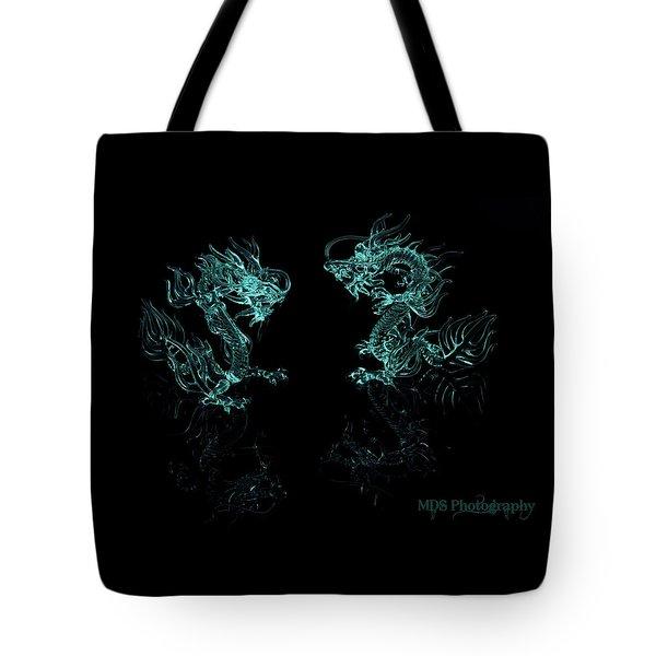 Ice Dragons Tote Bag by Chad Hamilton