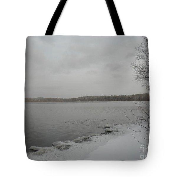 Ice Edge Tote Bag