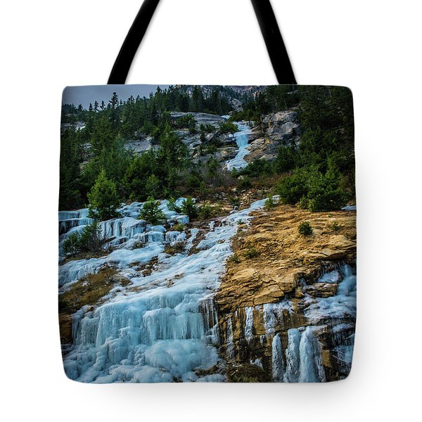 Ice Fall Tote Bag