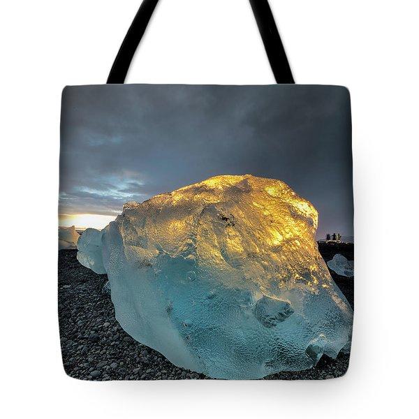 Ice Fish Tote Bag by Allen Biedrzycki