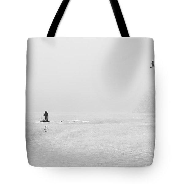 Ice Fishermen Tote Bag