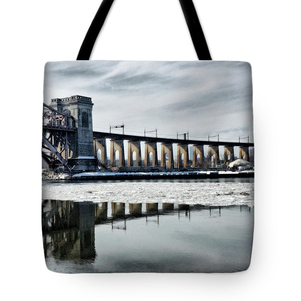Ice Flows Under The Hellgate Tote Bag