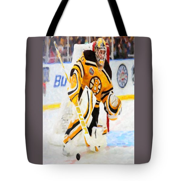 Ice Hockey Goalie  Tote Bag by Lanjee Chee