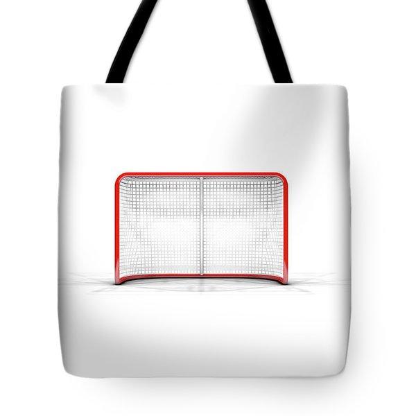 Ice Hockey Goals Tote Bag