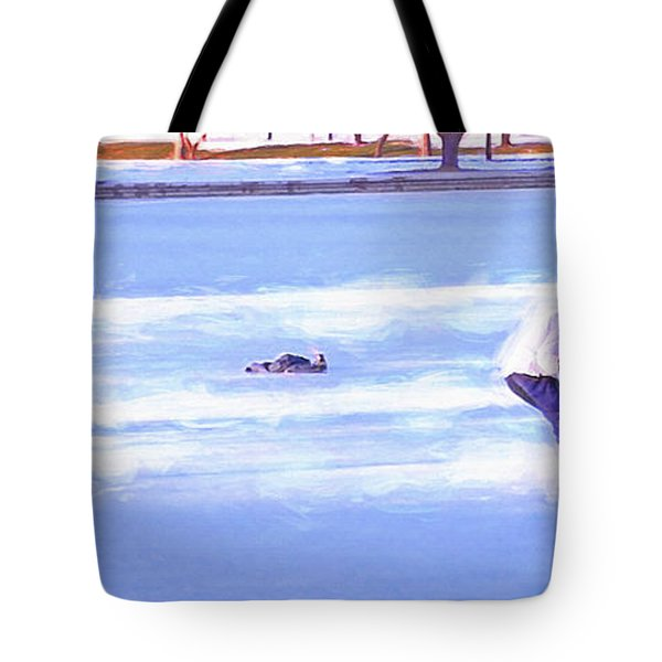 Ice Hockey - Two On Two Tote Bag