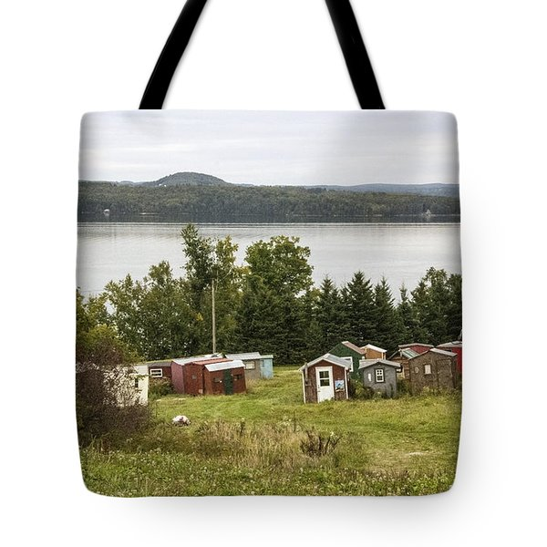 Ice Houses In Vermont Tote Bag