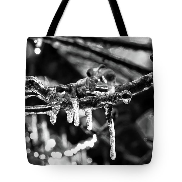 Tote Bag featuring the digital art Ice, Ice Baby by Kathleen Illes