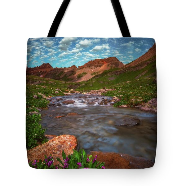 Tote Bag featuring the photograph Ice Lake Nights by Darren White