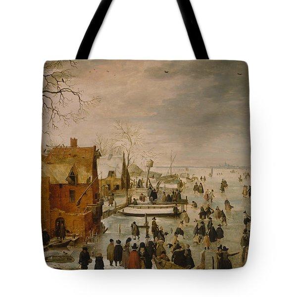 Ice Landscape Tote Bag