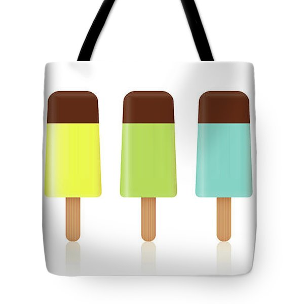 Ice Lollys Colored Set Chocolate Topping Tote Bag