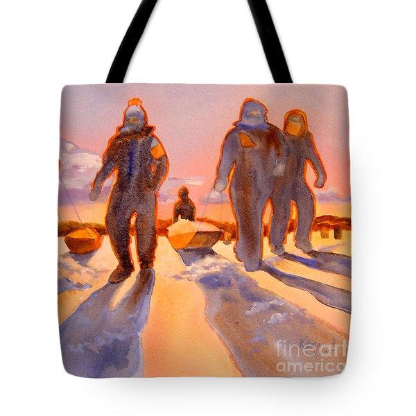 Ice Men Come Home Tote Bag