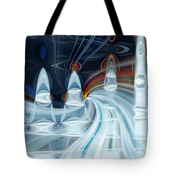 Ice Mountain Tote Bag by Cherie Duran