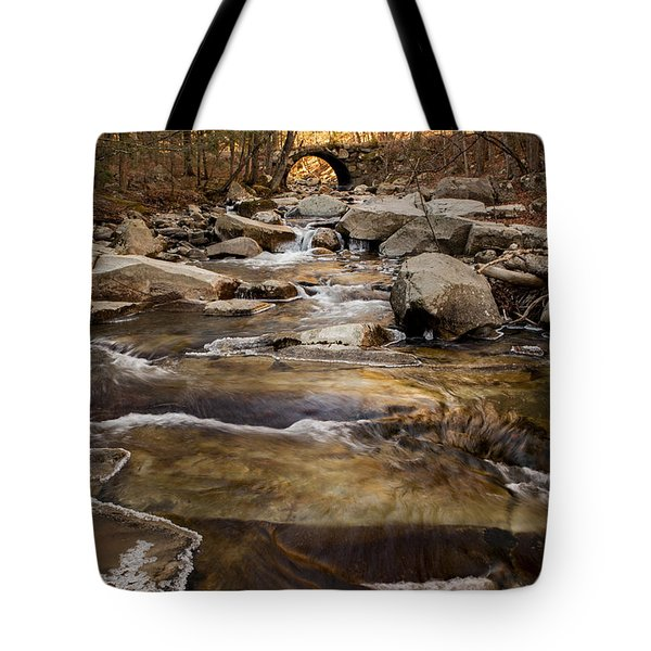 Ice On Stickney Brook Tote Bag