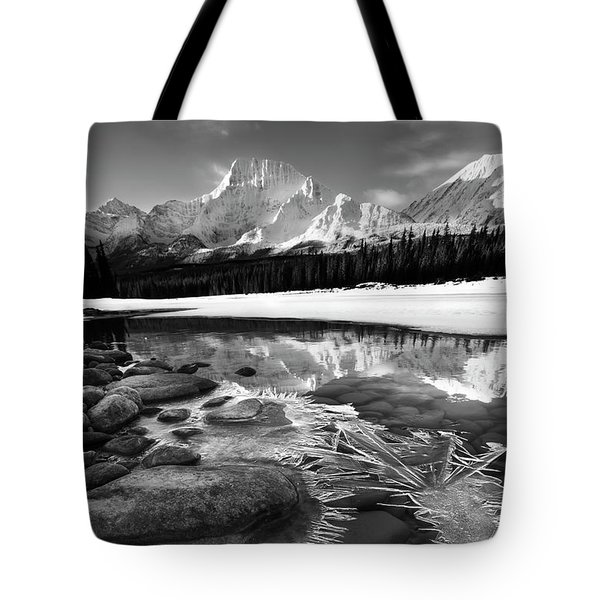 Ice On The Athabasca Tote Bag by Dan Jurak