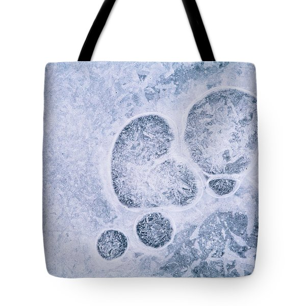 Tote Bag featuring the photograph Ice Pattern Three by Davorin Mance