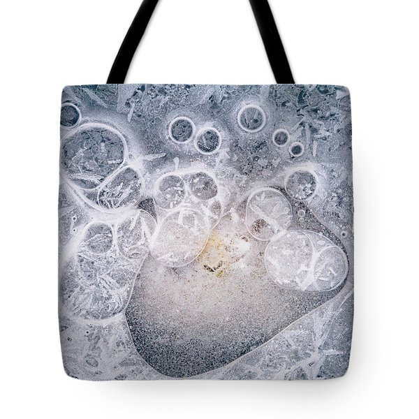 Tote Bag featuring the photograph Ice Pattern Two by Davorin Mance