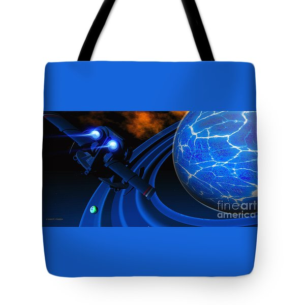 Ice Planet Tote Bag by Corey Ford