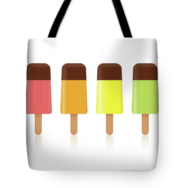 Ice Pops Chocolate Fruit Flavor Tote Bag