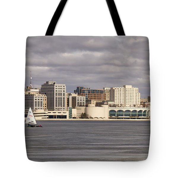 Ice Sailing - Lake Monona - Madison - Wisconsin Tote Bag by Steven Ralser