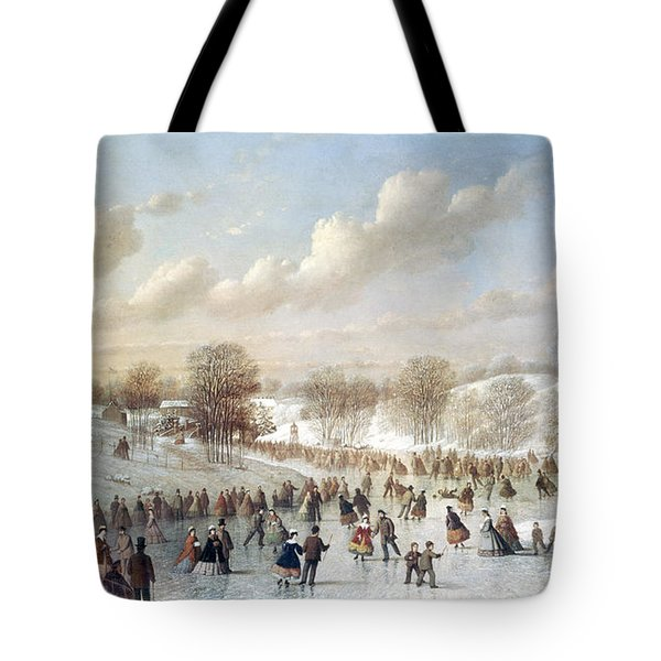Ice Skating, 1865 Tote Bag by Granger