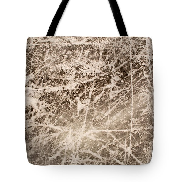 Ice Skating Marks Tote Bag