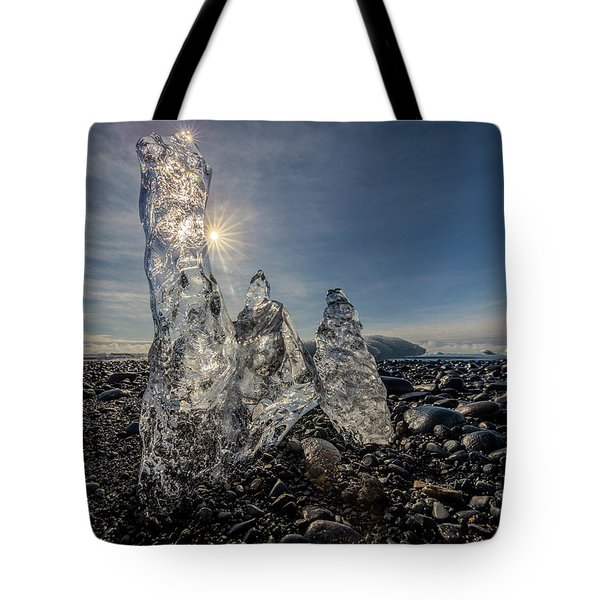 Tote Bag featuring the photograph Ice Spires by Rikk Flohr