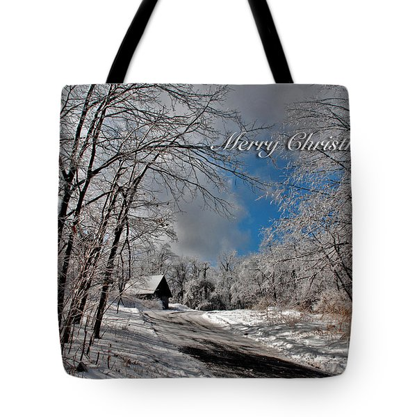 Ice Storm Christmas Card Tote Bag by Lois Bryan
