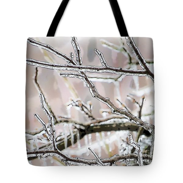 Ice Storm Ice Tote Bag by Craig Walters