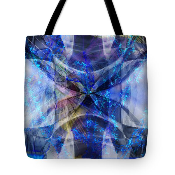 Tote Bag featuring the digital art Ice Structure by Art Di