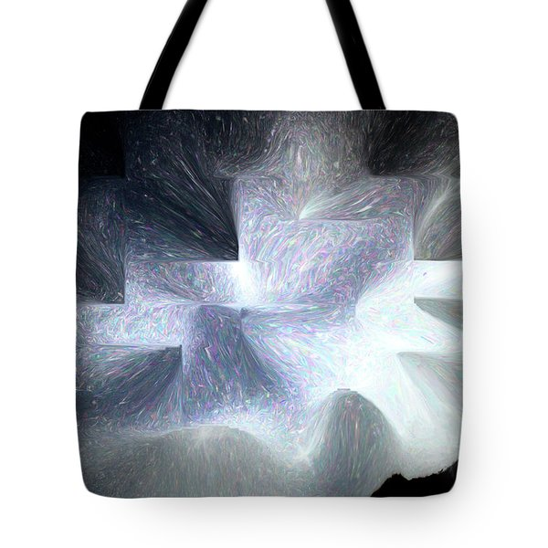 Ice Throne Abstract Tote Bag by Aliceann Carlton