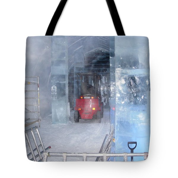 Ice Truck Tote Bag by Maria Joy