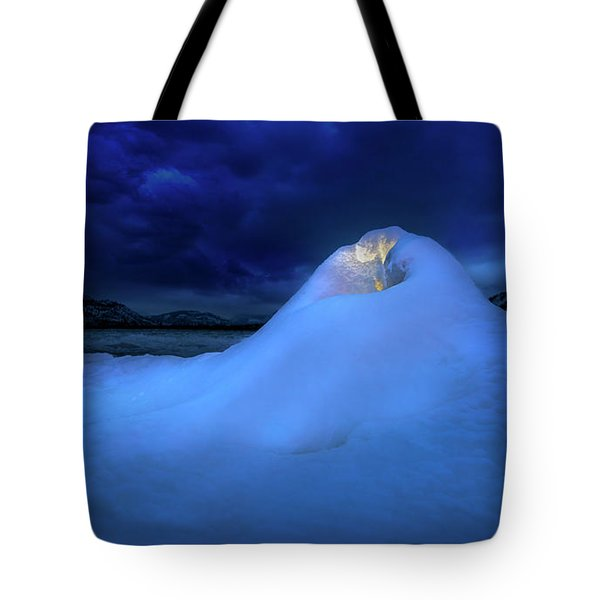 Tote Bag featuring the photograph Ice Volcano by John Poon