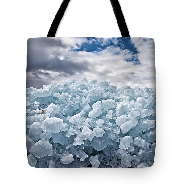 Ice Wall Tote Bag by Brian Boudreau