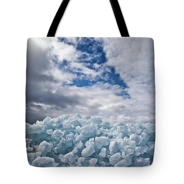 Ice Wall II Tote Bag by Brian Boudreau