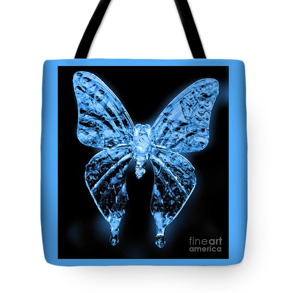 Ice Wing Butterfly Tote Bag
