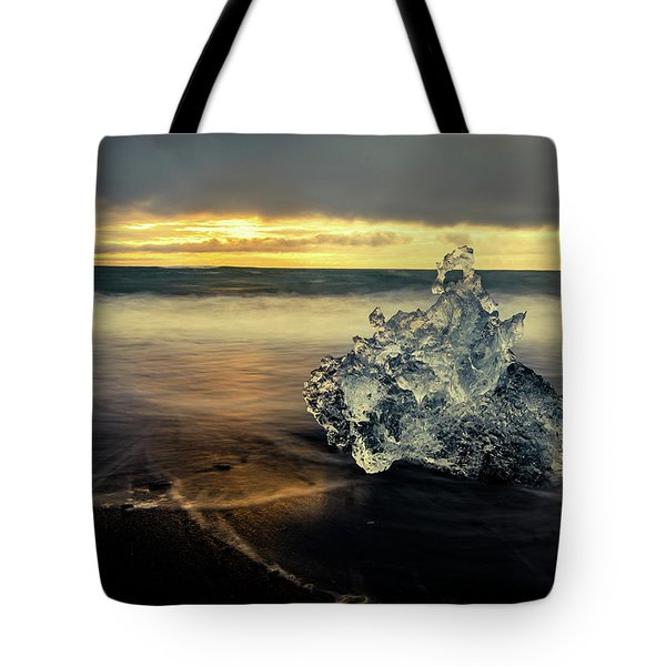 Tote Bag featuring the photograph Iceberg At Dawn by Rikk Flohr