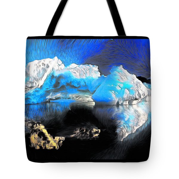 Tote Bag featuring the photograph Iceberg Due North by Mario Carini