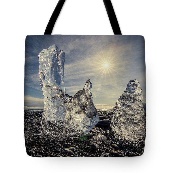Tote Bag featuring the photograph Iceberg Fingers Catching The Sun by Rikk Flohr