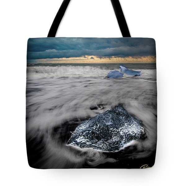 Tote Bag featuring the photograph Iceberg Remnant by Rikk Flohr