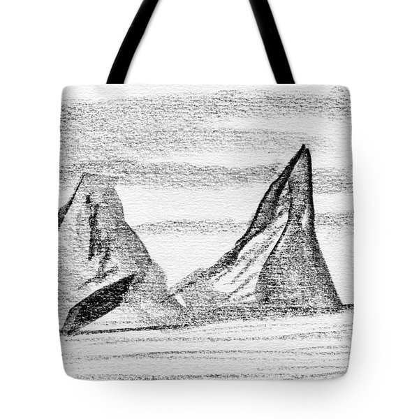 Icebergs Tote Bag by R Kyllo