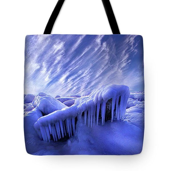 Tote Bag featuring the photograph Iced Blue by Phil Koch
