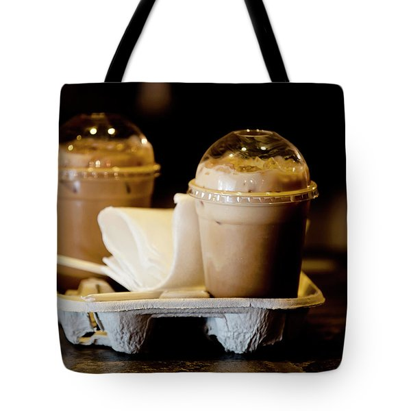 Iced Caramel Coffee Tote Bag