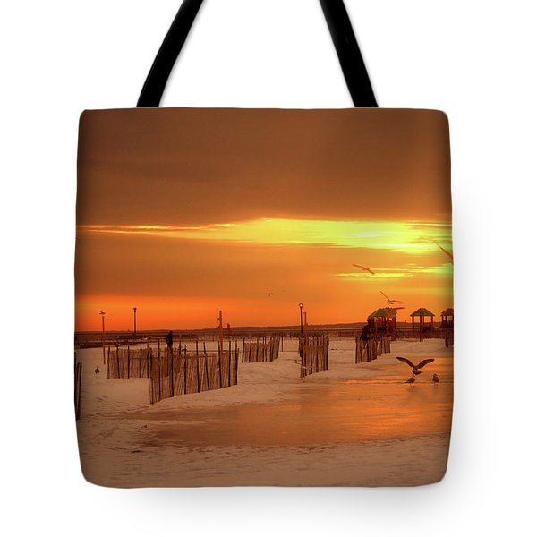 Iced Sunset Tote Bag