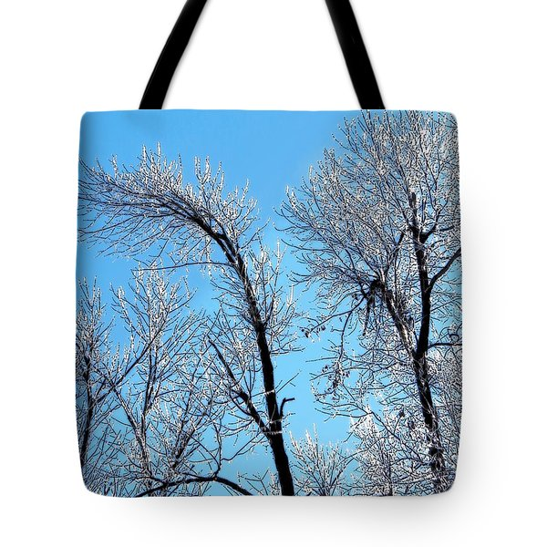 Iced Trees Tote Bag