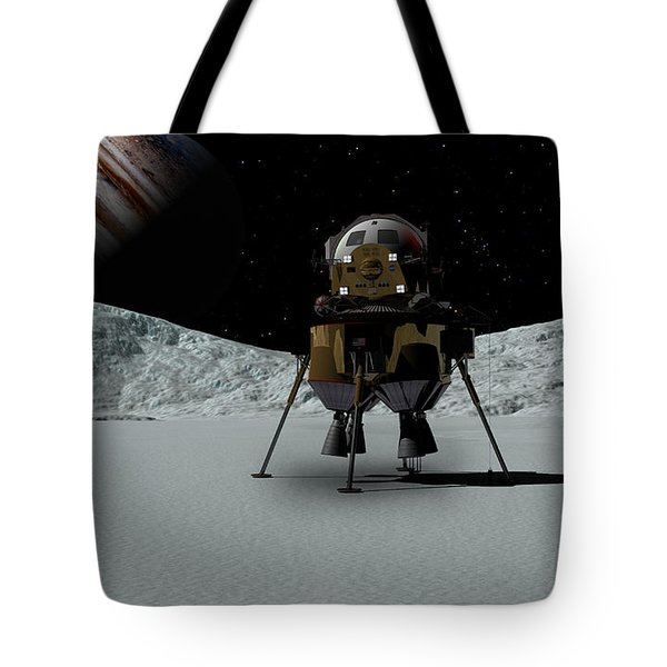 Tote Bag featuring the digital art Icefield Landing by David Robinson