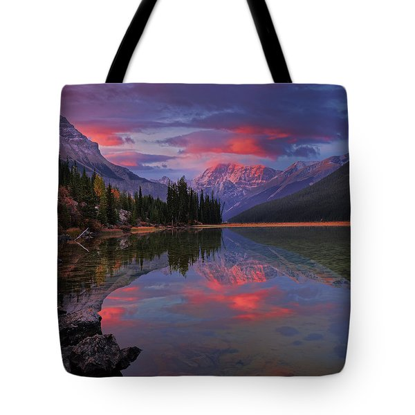 Icefields Parkway Autumn Morning Tote Bag