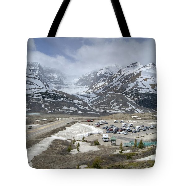 Tote Bag featuring the photograph Icefields Parkway Highway 93 by David Birchall