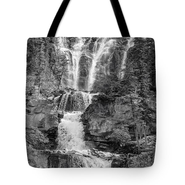 Icefields Waterfall Tote Bag